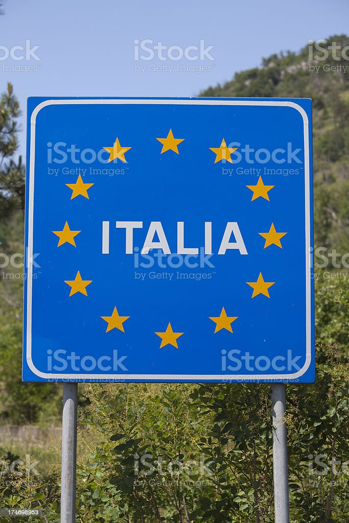 Italy Sign royalty-free stock photo