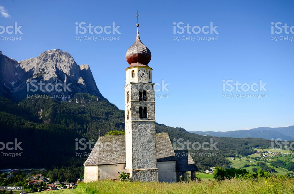 Italy, South Tyrol, Seis stock photo