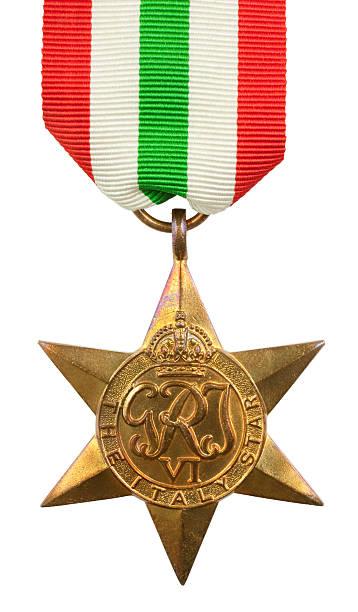 Italy Star Medal stock photo