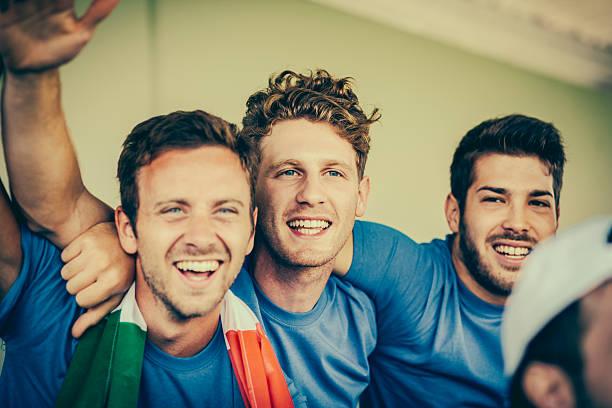 Italien Fan im Stadion – Foto
