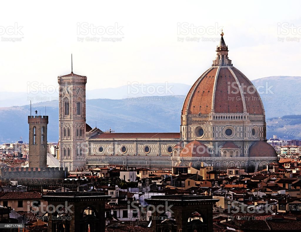 FLORENCE Italy the dome called Cupola del Brunelleschi stock photo