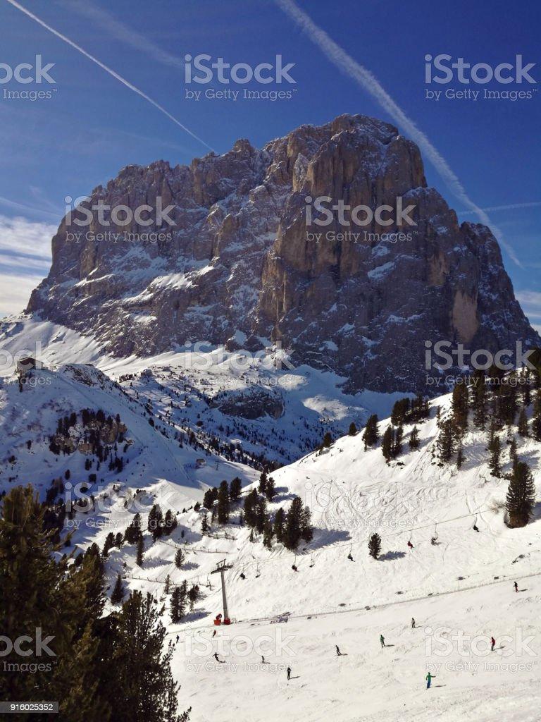 Italy, Trentino, Dolomites, view of the mountains stock photo