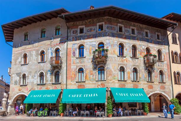 Italy - Trento, Case Rella-Cazuffi stock photo