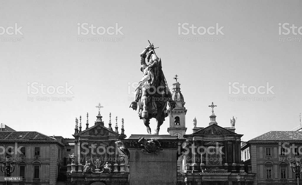 Italy. Turin. Piazza San Carlo. royalty-free stock photo