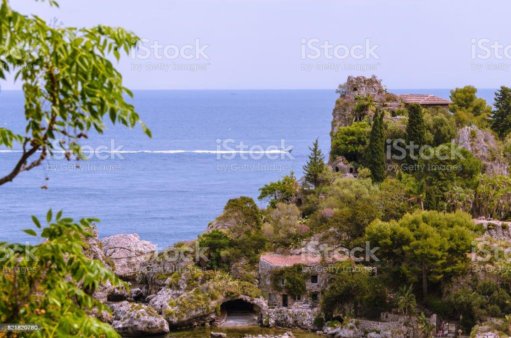 Italy: View of Isola Bella's island stock photo