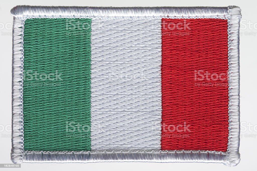 Parche bandera de Italia. - foto de stock