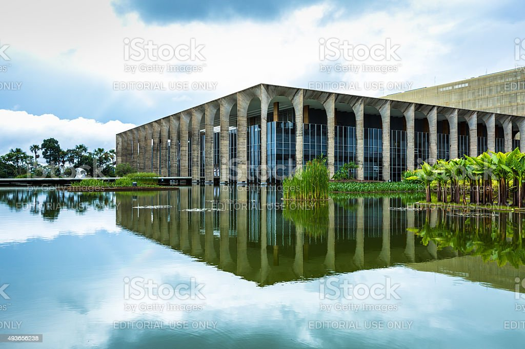 Itamaraty Palace in Brasilia, Brazil stock photo