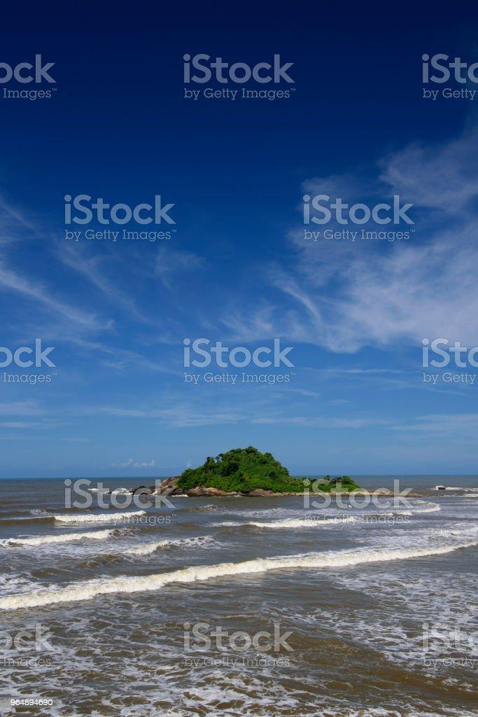 Itanhaém 海灘-巴西 - 免版稅南大西洋圖庫照片