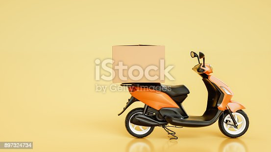 istock Item boxes are on motorcycles. 897324734