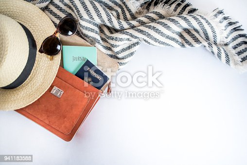 941183588 istock photo Items for a solo traveler 941183588