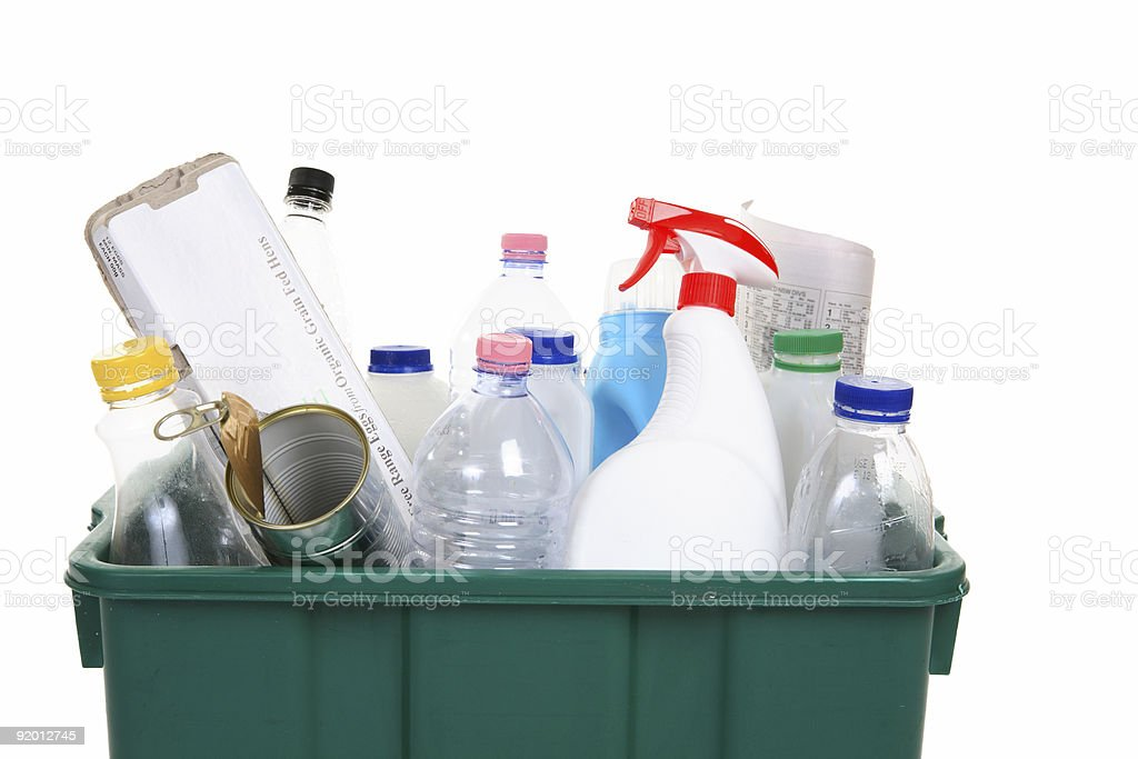 Items for recycling royalty-free stock photo