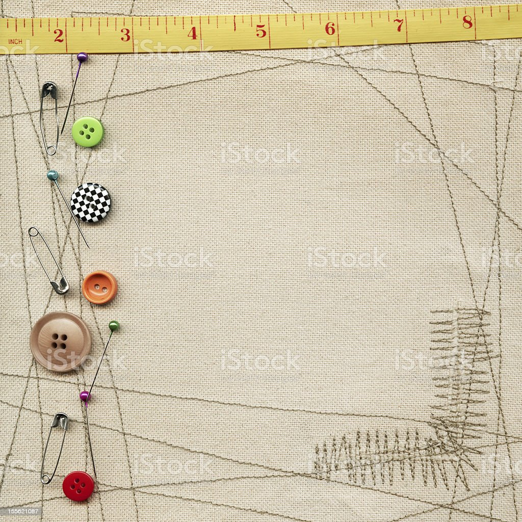 Items for sewing royalty-free stock photo