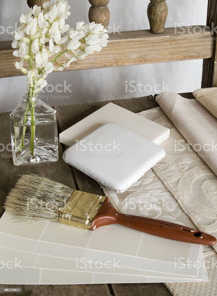 Items needed for a decorating project royalty-free stock photo