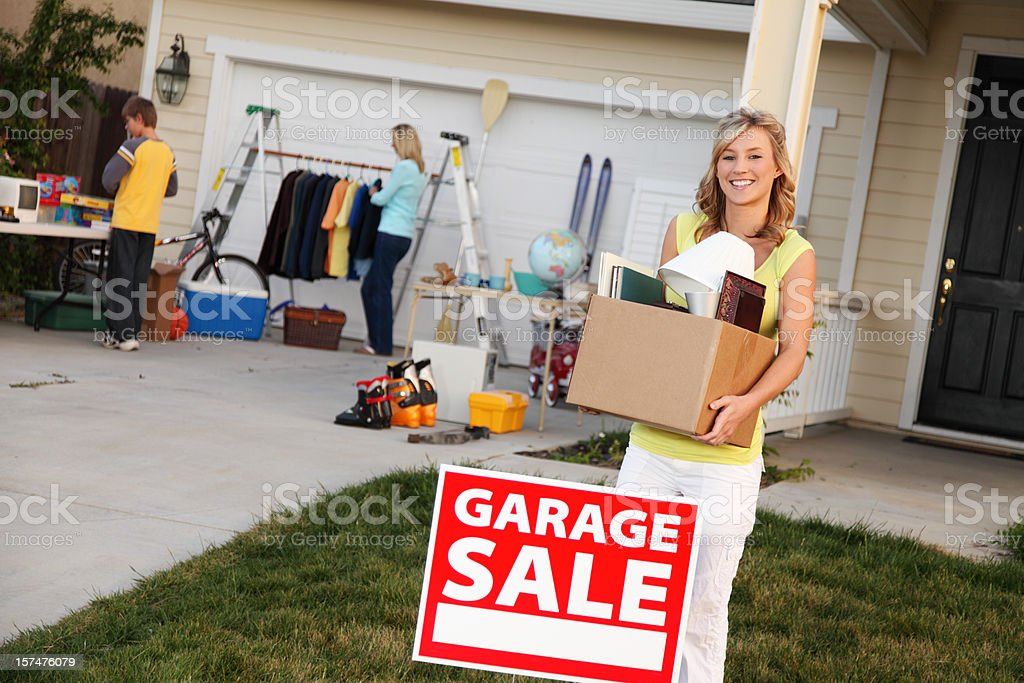 Items To Sell At Garage Sale royalty-free stock photo