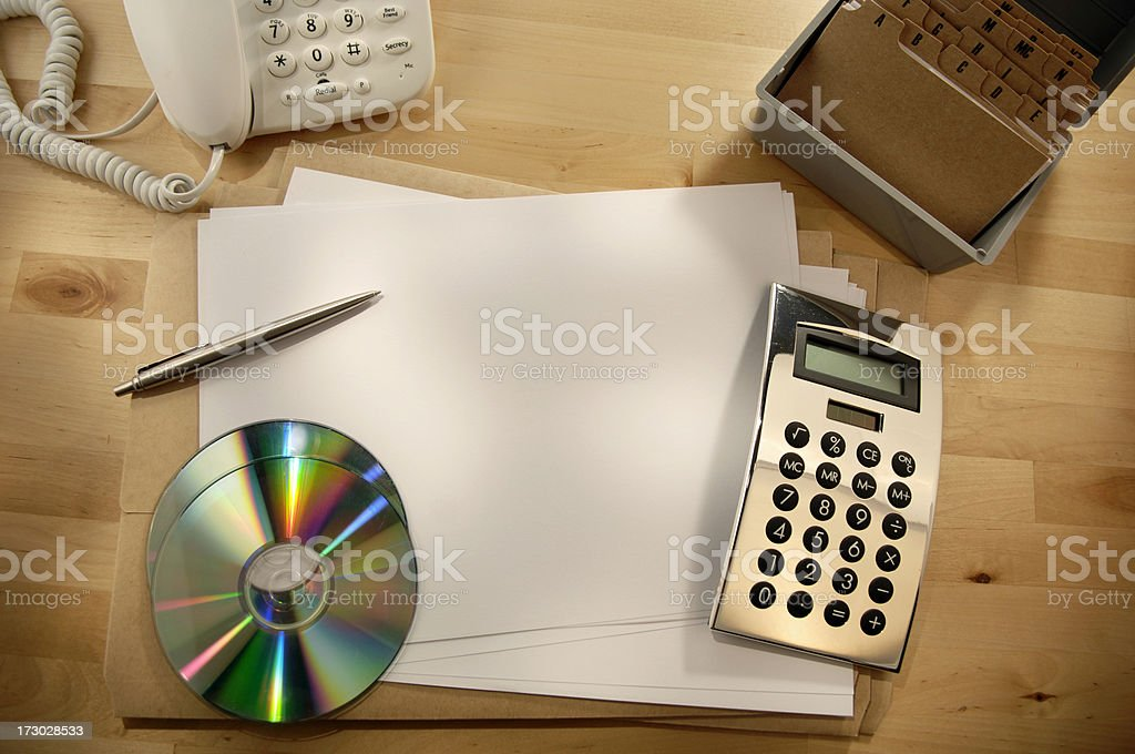 Items Usually Found On A Desk royalty-free stock photo