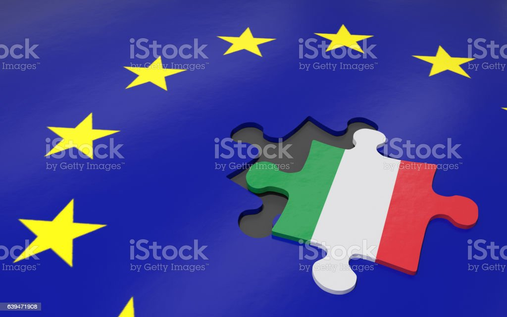 Itexit and EU foto stock royalty-free