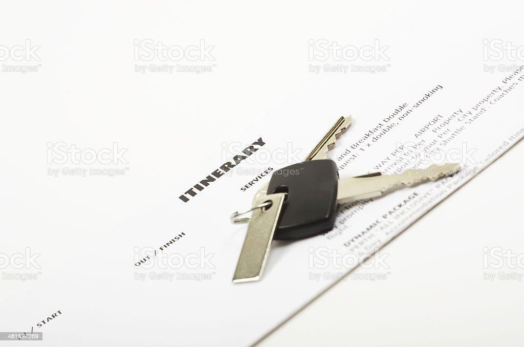 itinerary form and car keys stock photo 481897269 istock