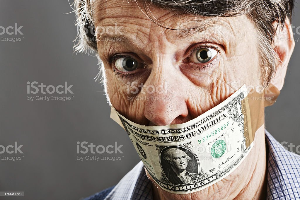 It'll take more than this to keep me quiet stock photo