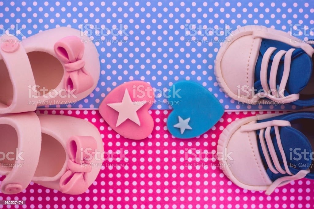 Its A Boy And A Girl Twins Baby Shower Invitation Stock Photo Download Image Now Istock