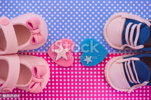886700726istockphoto It's a boy and a girl. Twins baby shower invitation 982527474