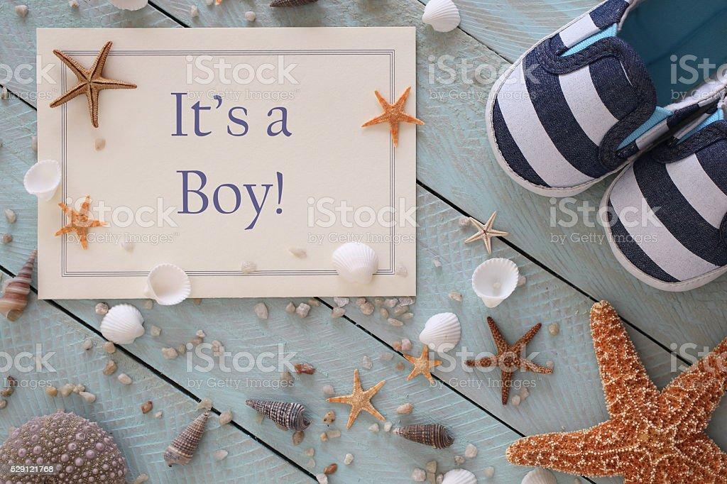 It's a Boy Announcement stock photo