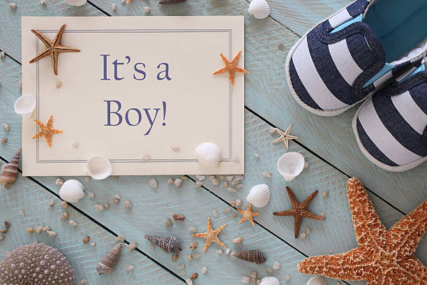 It's a Boy Announcement stock photo