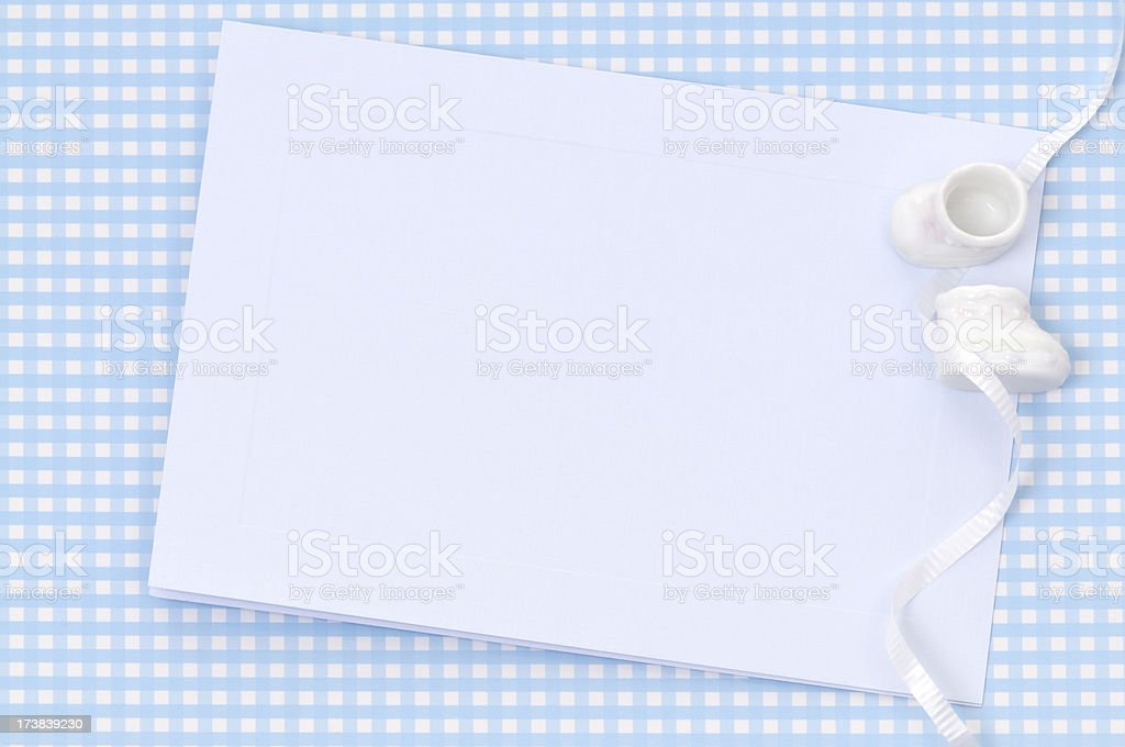 It's a boy! Blank card stock photo