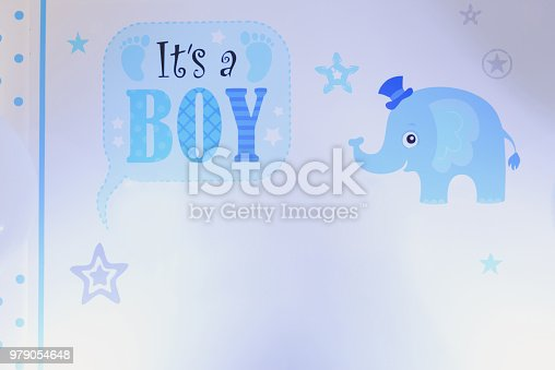 875685464istockphoto It's a boy blue card with mock up 979054648