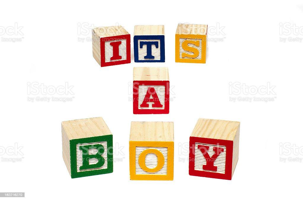 Its a boy royalty-free stock photo