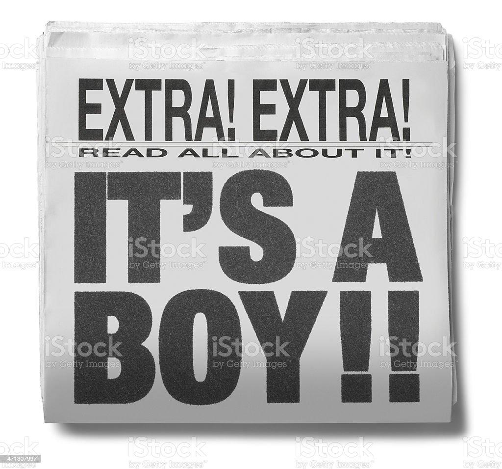 It's A Boy royalty-free stock photo