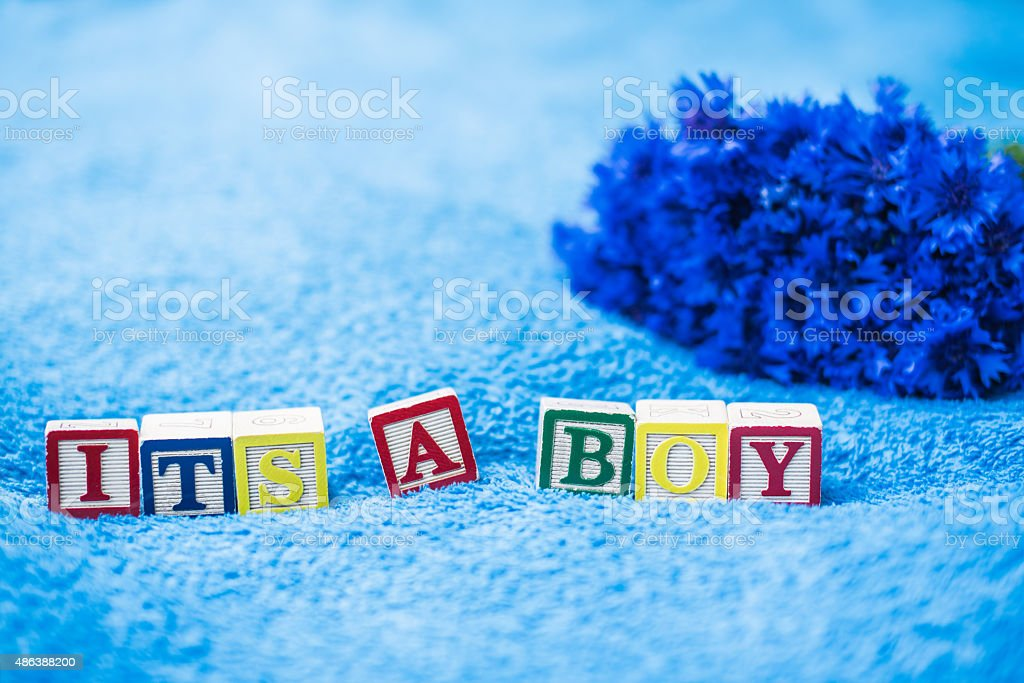 It's a boy Pregnancy Announcement stock photo