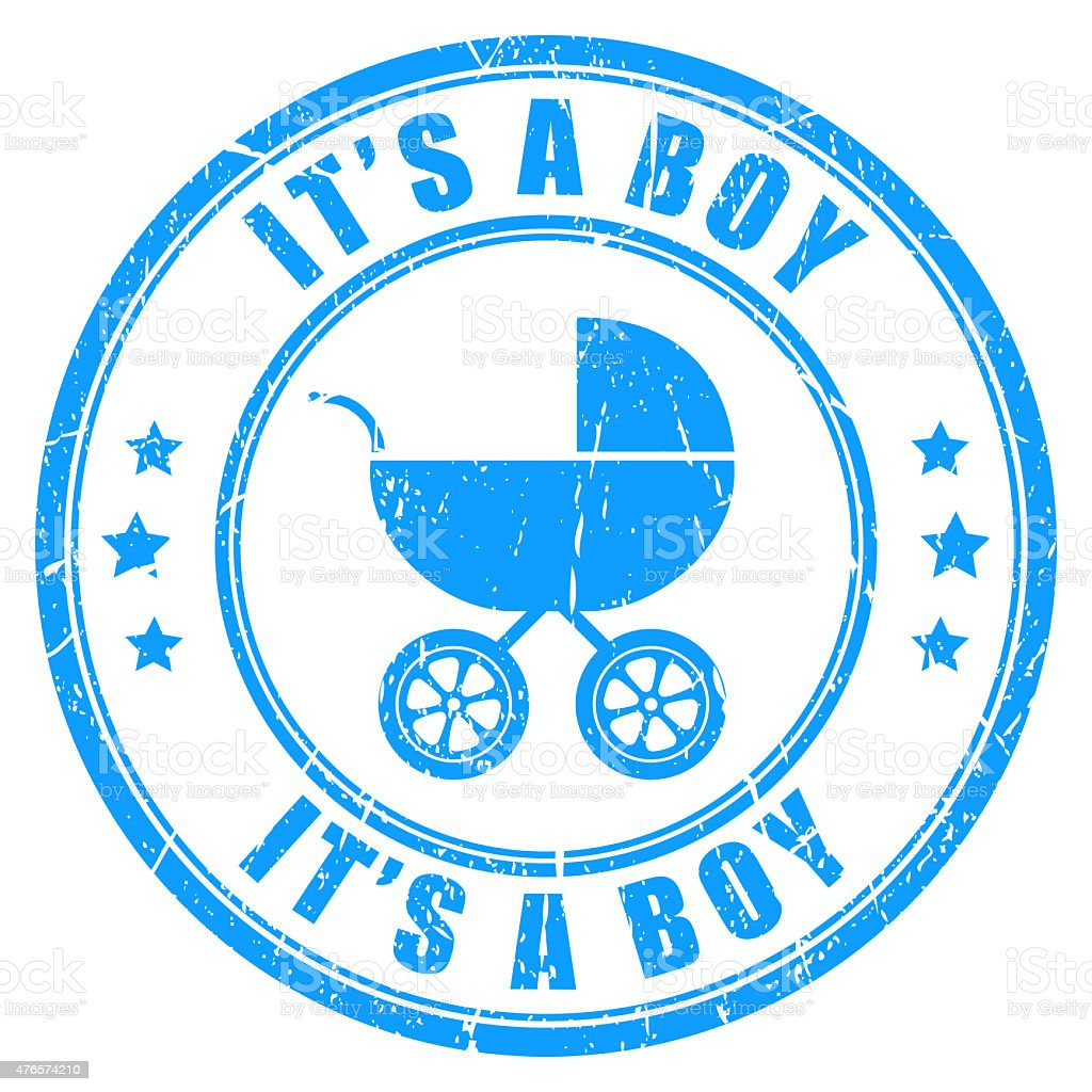 It's a boy stamp stock photo