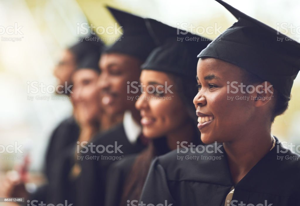 It's a bright future ahead of us stock photo