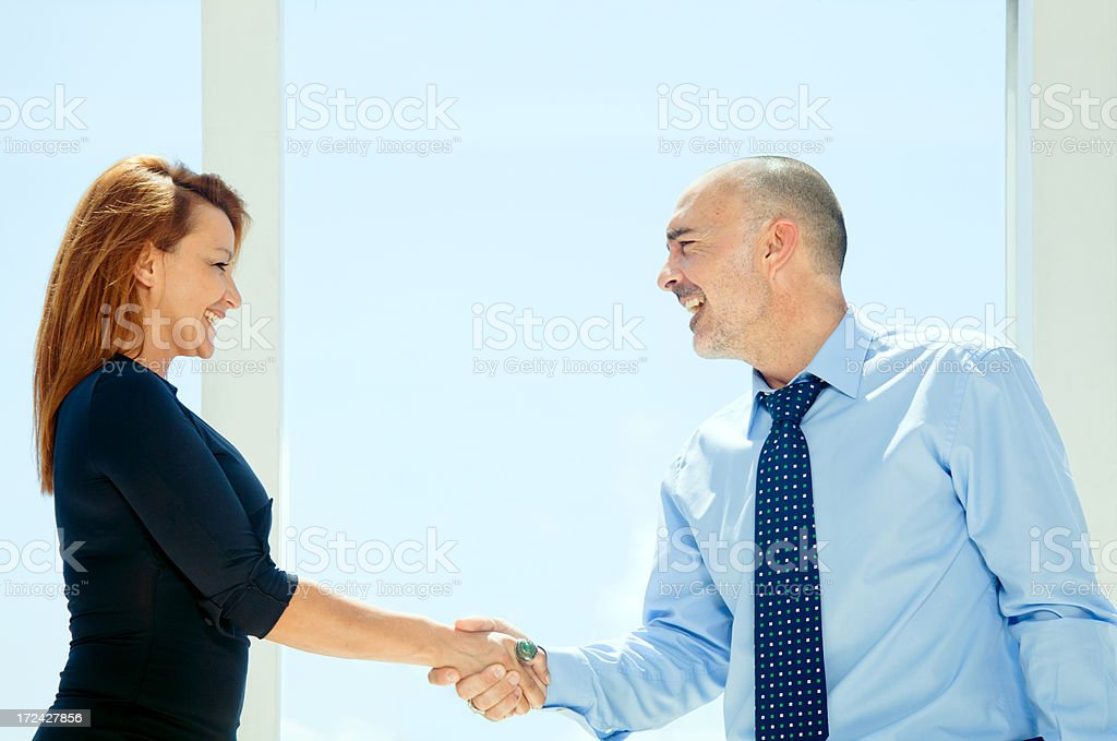 It's a deal royalty-free stock photo