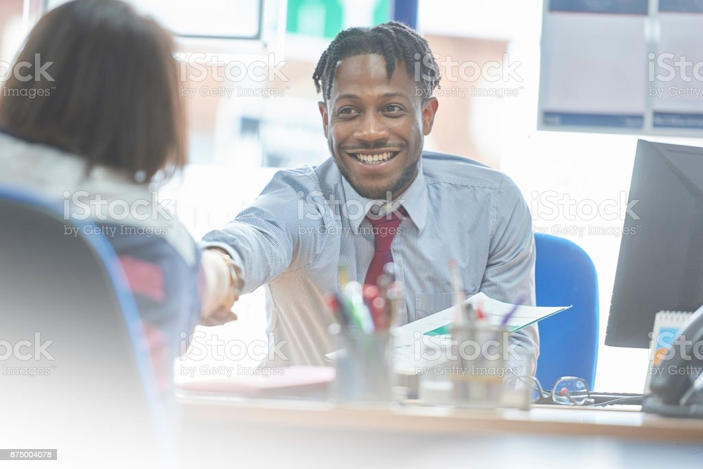It's a done deal stock photo