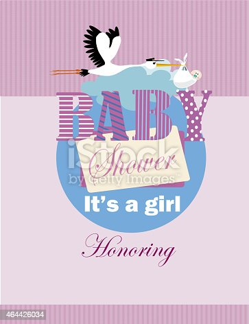 istock it's a girl , baby shower 464426034