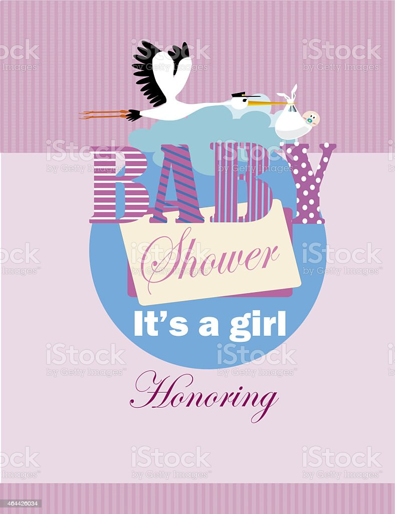 it's a girl , baby shower stock photo