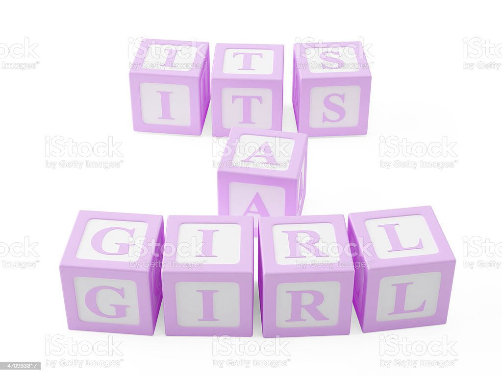 It's a Girl stock photo
