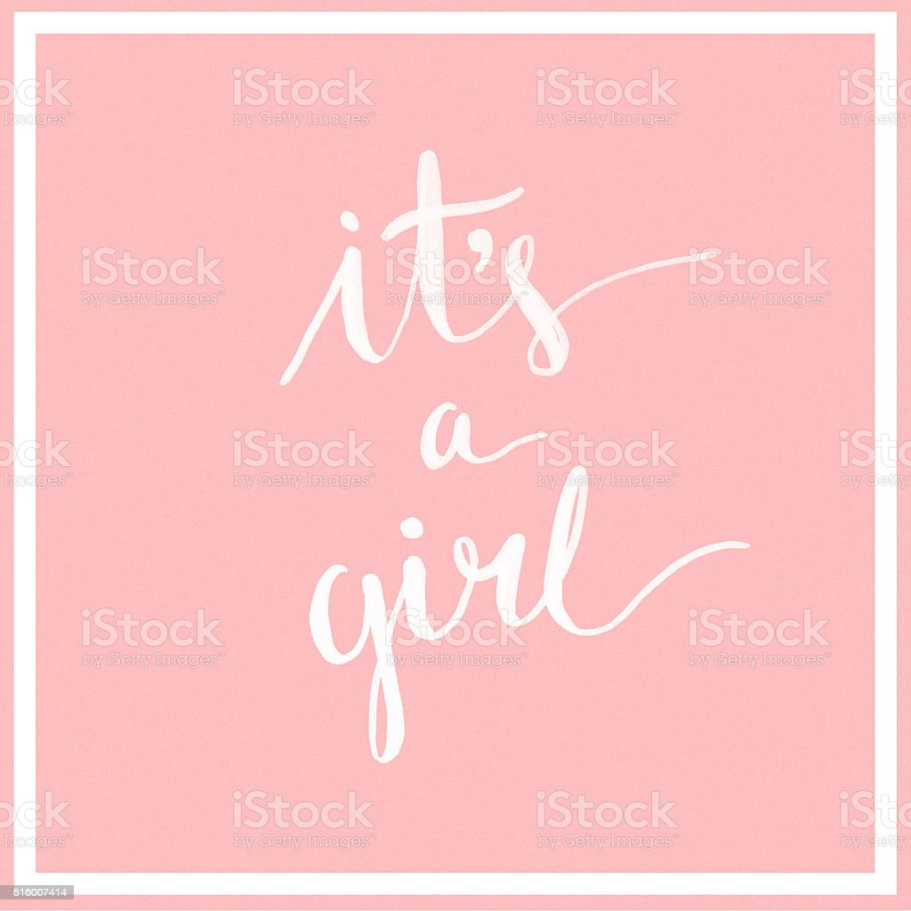It's a girl! stock photo