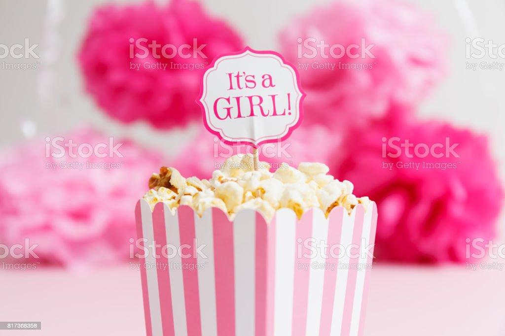 Itu0027s A Girl Sign In A Popcorn