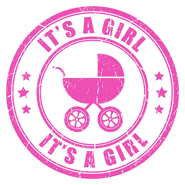 it's a girl stamp - its a girl stock photos and pictures