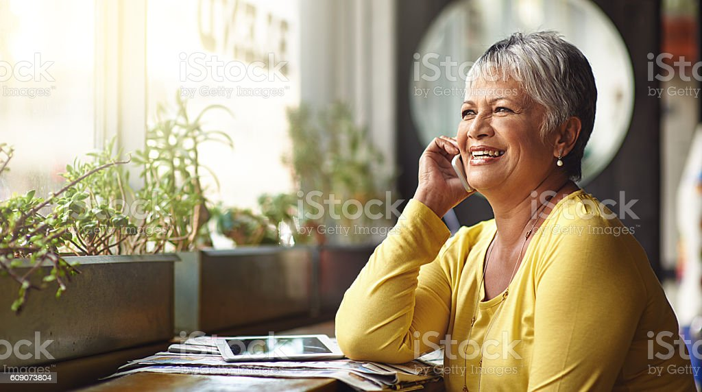 It's a good day for a coffee date stock photo