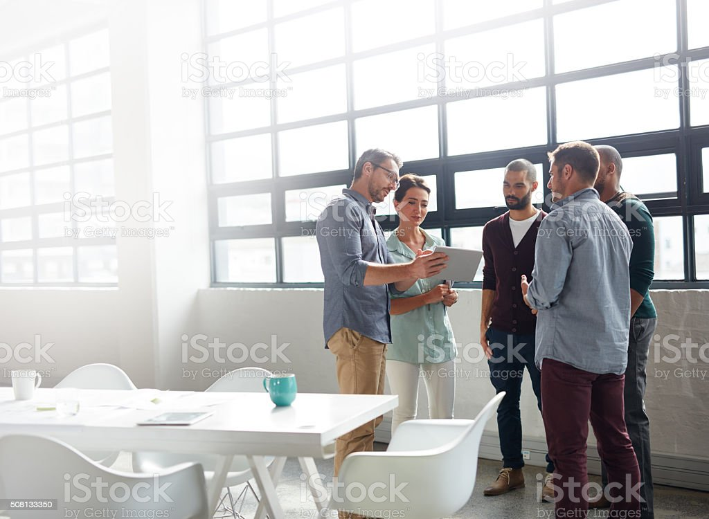 It's a great forum to share their ideas stock photo