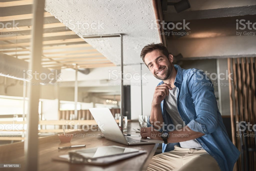 It's a great spot to get things done stock photo