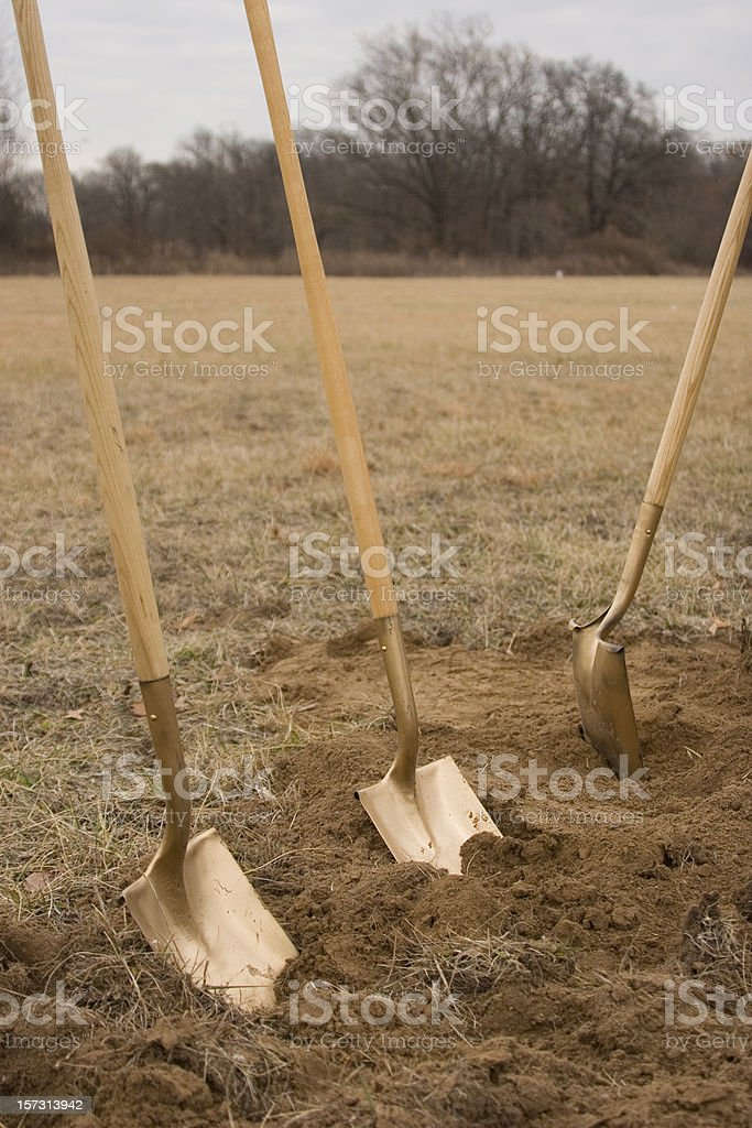 It's a Ground Breaking royalty-free stock photo