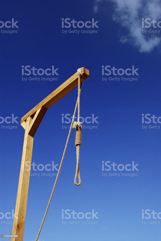 it's a hanging matter royalty-free stock photo