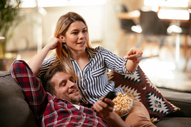 It's a movie marathon stock photo