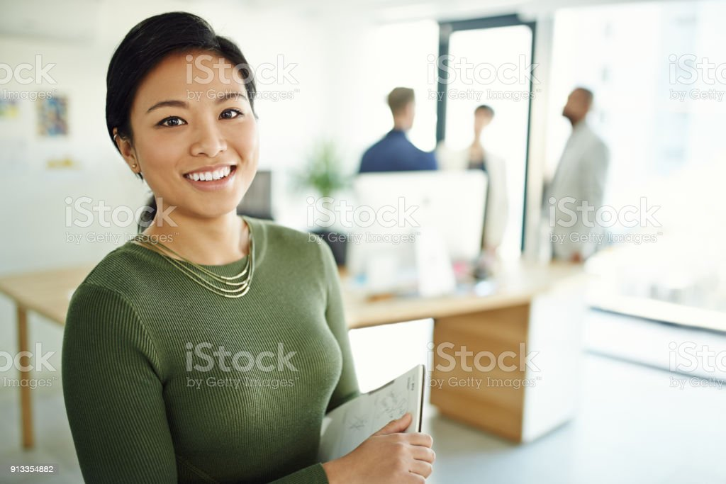 It's a pleasure to manage such a great team stock photo