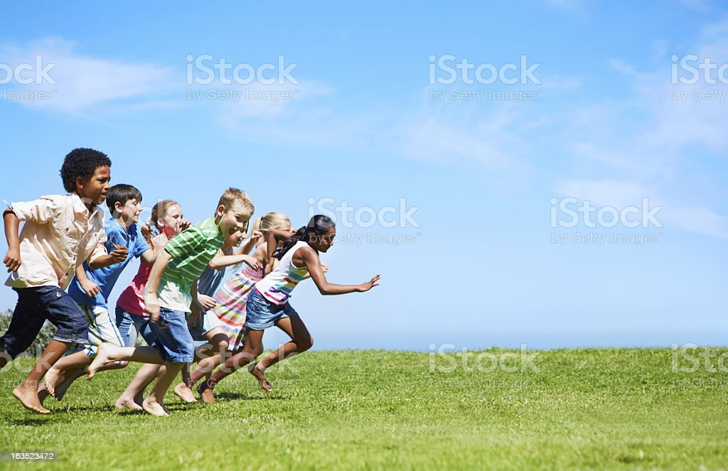It's a race! stock photo