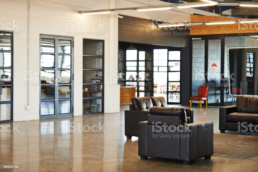 It's a relaxing office space stock photo
